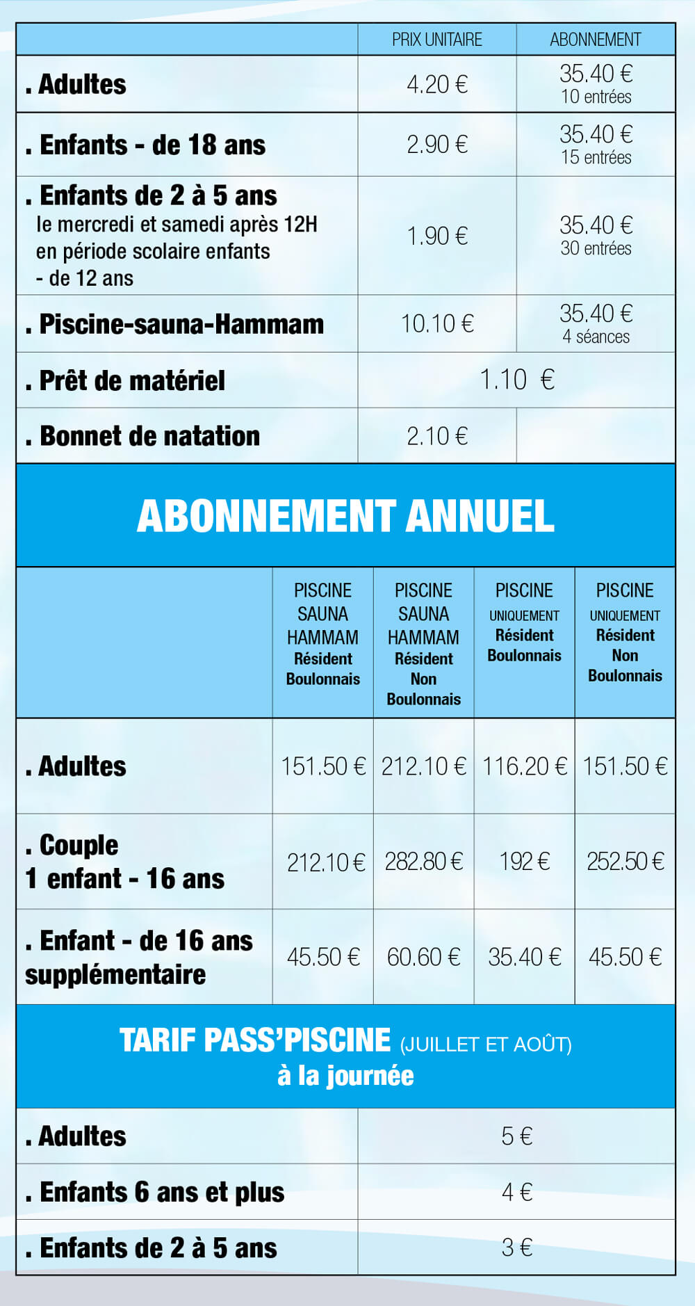 Piscine de nausic a for Horaire piscine boulogne